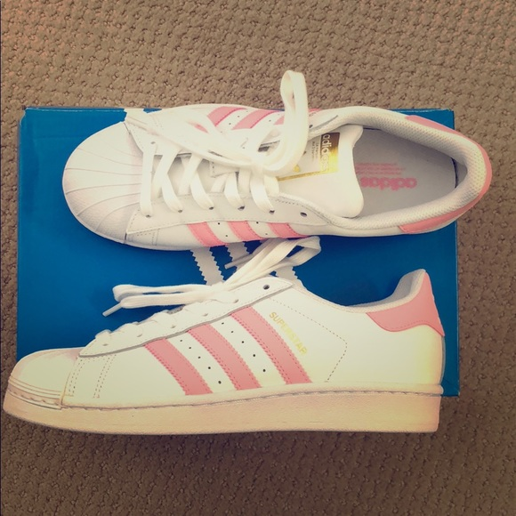 le adidas new original superstar pinkwh scarpe poshmark